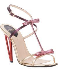 Fendi Bowembellished Iridia Tstrap Sandals - Lyst