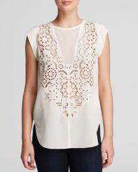 Rebecca Taylor Top - Mosaic Cutout - Lyst