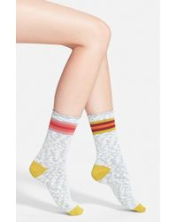 Free People 'Mis-Match' Crew Socks - Lyst