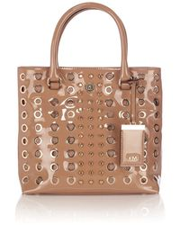 Karen Millen Studs and Eyelets Collection Tote Bag - Lyst