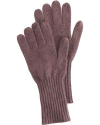 J.Crew Purple Cashmere Gloves - Lyst