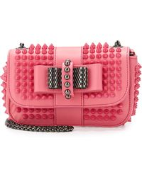 Christian Louboutin Sweet Charity Small Spiked Crossbody Bag - Lyst