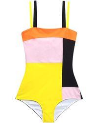 Roksanda Striped Colour-Block Swimsuit - Lyst