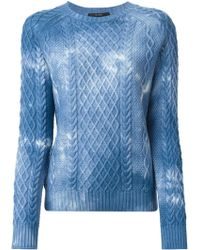 Gucci Blue Bleached Sweater - Lyst