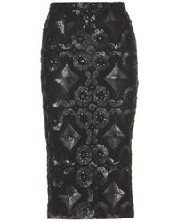 Burberry Prorsum Sequinned Lace Pencil Skirt - Lyst