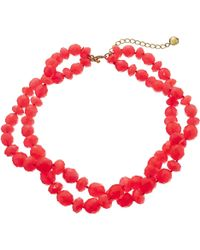 Kate Spade Give It A Swirl Twisted Necklace - Lyst