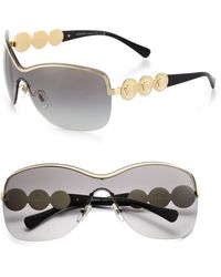 Versace Shield Medusa Sunglasses - Lyst
