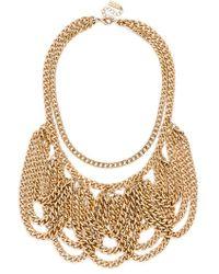 BaubleBar Women'S 'Freefall' Curb Chain Bib Necklace - Gold - Lyst