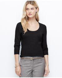 Ann Taylor Tall Ribbed Waist Sweater - Lyst