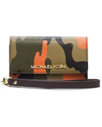 Michael by Michael Kors Jet Set Leather Travel Wristlet - Lyst