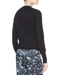 Badgley Mischka Tieneck Sweater Black - Lyst