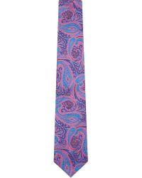 Duchamp Floral Paisley Tie - For Men - Lyst