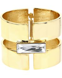 Diane von Furstenberg   Swarovski Stone Wide Cuff Bracelet   Lyst