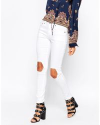 Daisy Street - Jeans With Busted Knee - Lyst
