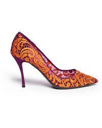 Nicholas Kirkwood Lace Embroidery Mesh Pumps - Lyst