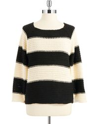 Sanctuary Black Striped Sweater - Lyst