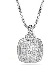 David Yurman Pendant With Diamonds - Lyst