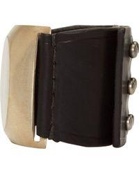 Rick Owens - Black Bone Inlay Bracelet - Lyst