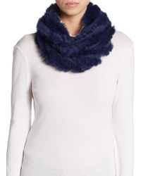Saks Fifth Avenue Black Label Rabbit Fur Eternity Scarf - Lyst