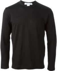 Comme Des Garçons Side Zipper Closure Sweatshirt - Lyst