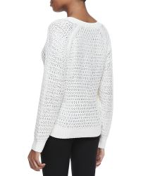 Theyskens' Theory Kaydim Yaina Silk Sweater - Lyst