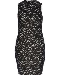 River Island Black Chelsea Girl Note Print Tank Dress - Lyst