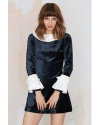 Nasty Gal | To Be Adored Aga Velvet Dress | Lyst