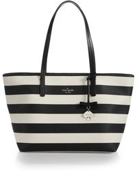 Kate Spade Hawthorne Lane Striped Faux-Leather Tote - Lyst