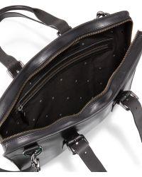 John Varvatos Hallowell Leather Briefcase - Lyst