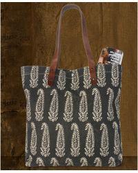 83c283530938 Denim   Supply Ralph Lauren - Leatherstrap Bandanaprint Canvas Tote - Lyst