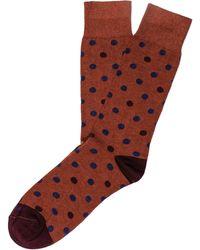 Etiquette - Etiquette Polka Dot Socks - Lyst