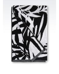 Emporio Armani Black Beach Towel - Lyst