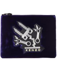 Kenzo Monster Patch Zip Pouch - Lyst