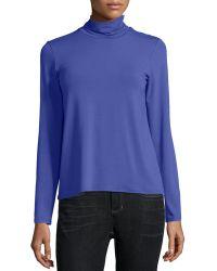 Eileen Fisher   Scrunch-neck Long-sleeve Top   Lyst