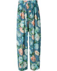 Kenzo Vintage Flower Print Sheer Trousers - Lyst