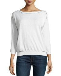 Joie Long Sleeve Cashmere Blend Sweater - Lyst