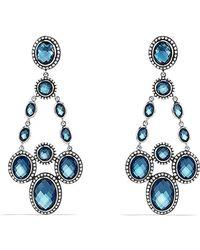 David Yurman Renaissance Chandelier Earrings With Diamonds - Lyst