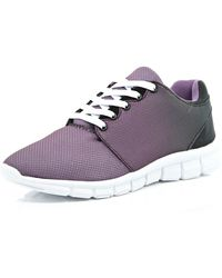 River Island Purple Ombre Trainers - Lyst