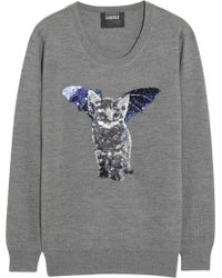 Markus Lupfer Catbat Sequined Merino Wool Sweater - Lyst