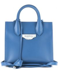 Balenciaga Padlock Nude Mini All Afternoon Leather Tote - Lyst