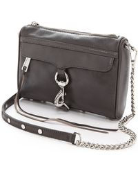Rebecca Minkoff Mini Mac Bag Charcoal - Lyst