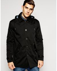 ASOS - Hooded Trench Coat - Lyst