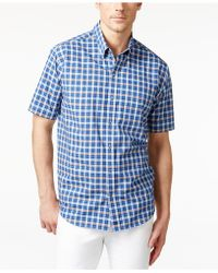 Cutter & Buck - Men's Big & Tall Horizon Plaid Short-sleeve Shirt - Lyst