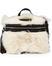 4ef6b46463c7 Marc By Marc Jacobs - Canteen Shearling Fur   Leather Crossbody Bag - Lyst