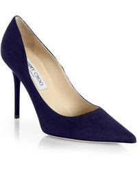 Jimmy Choo Abel Suede Pumps - Lyst