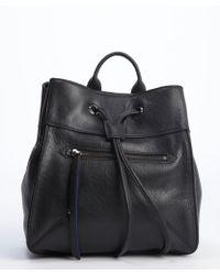 Olivia Harris Black And Perri Blue Leather Small Backpack black - Lyst