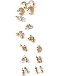 Forever 21 Rhinestone Earring Set - Lyst
