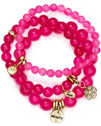 Sequin - Beauty Flower Bracelets, Set Of 3 - Lyst
