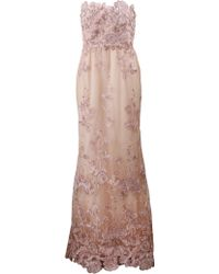 Notte by Marchesa Embellished Floral Tulle Gown pink - Lyst