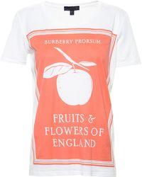 Burberry Prorsum Apple T-Shirt - Lyst